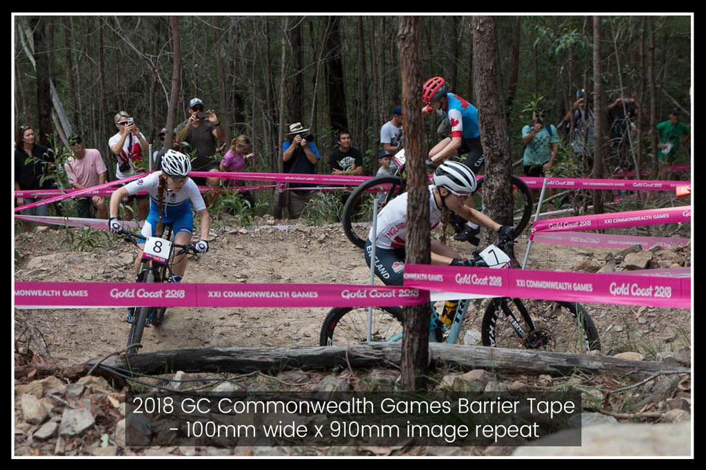 Barrier Tape - 2018 Commonwealth Games MTB