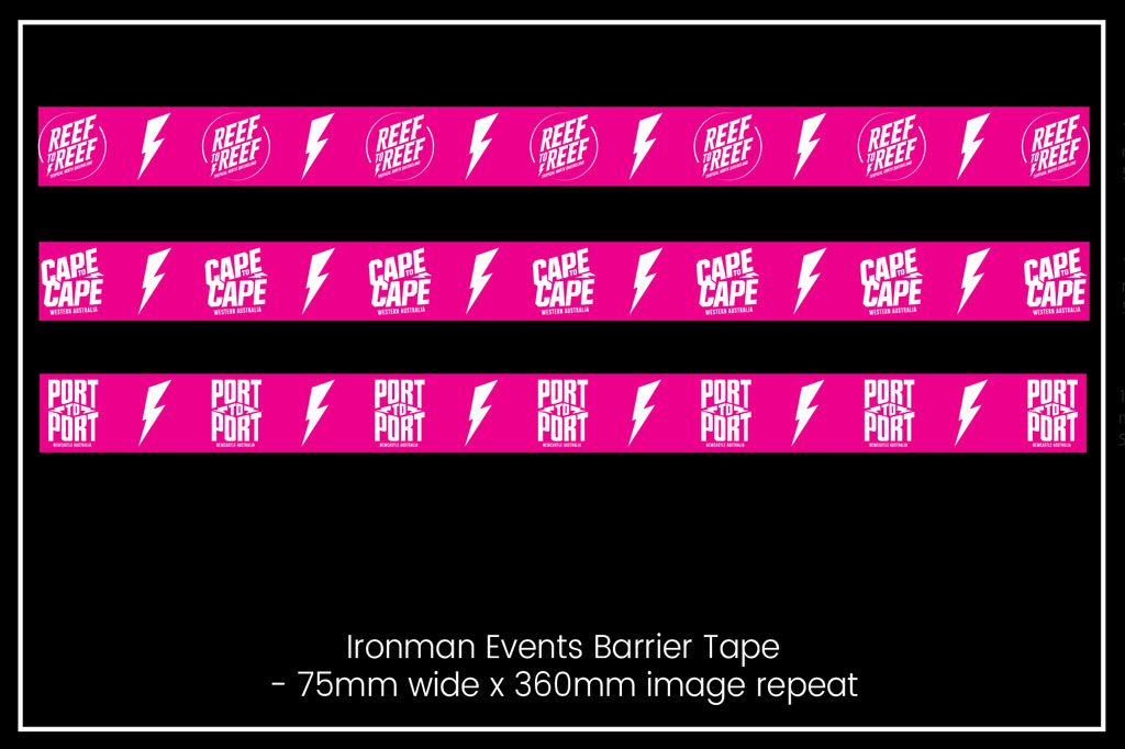 Barrier Tape - Ironman Events